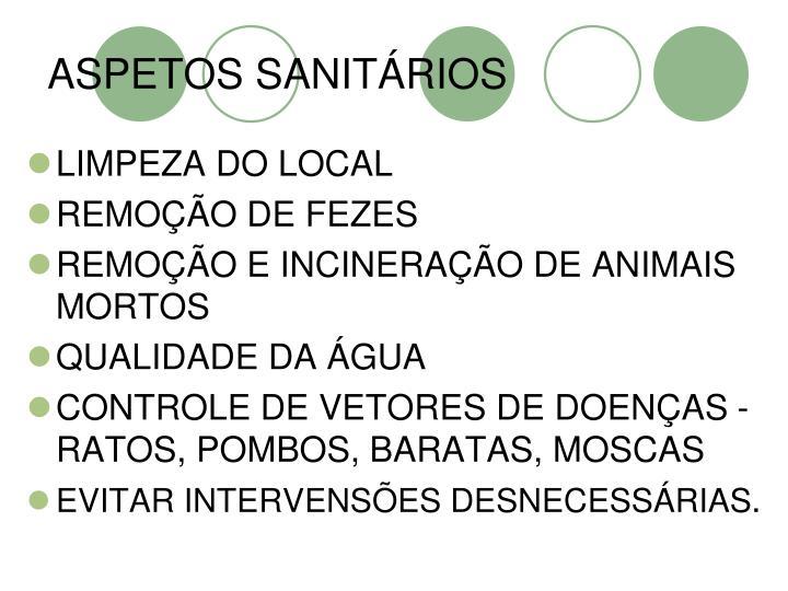 ASPETOS SANITÁRIOS