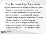 our responsibility awareness