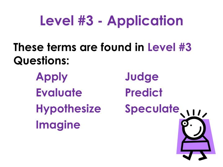 Level #3 - Application