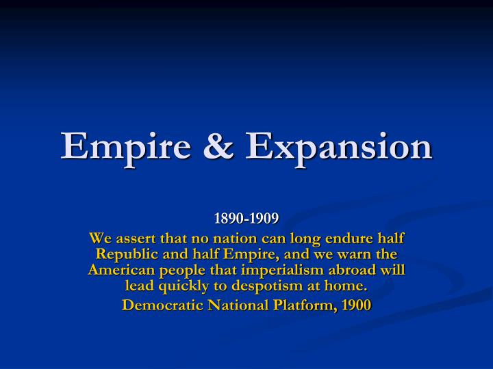 empire expansion n.