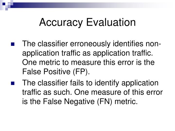 Accuracy Evaluation