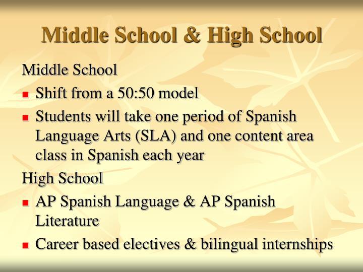 Middle School & High School