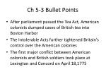 ch 5 3 bullet points