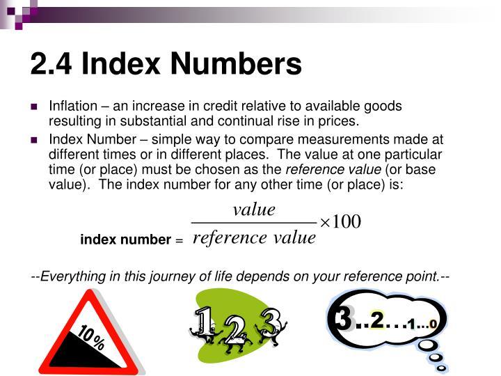 2 4 index numbers