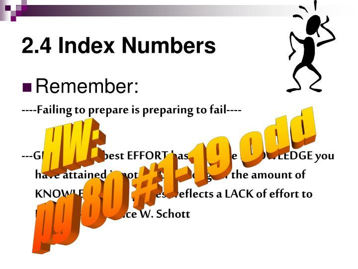 2.4 Index Numbers