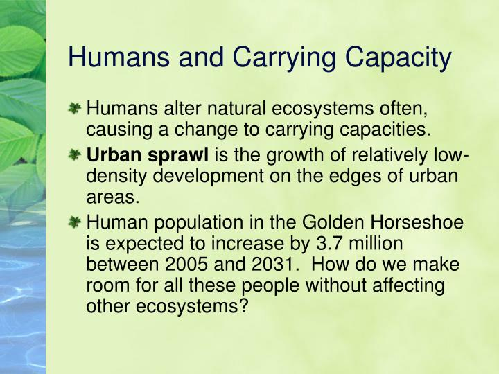 Humans and Carrying Capacity