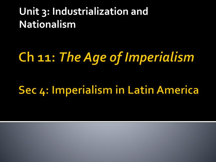 chapter 24 industrialization and imperialism the Chapter 24 industrialization and imperialism: the making of the european global order i introduction a change in europe's relationship with world.