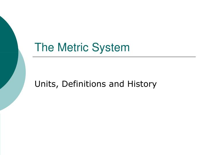 units definitions and history n.