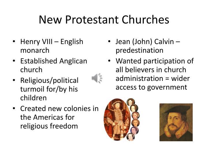 New Protestant Churches