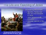 the life and teaching of jesus3