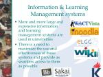 information learning management systems
