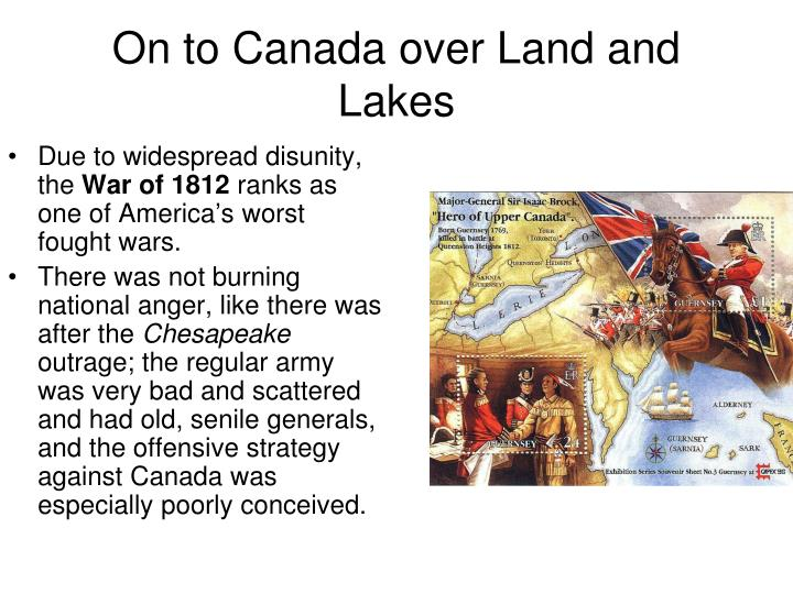 On to canada over land and lakes