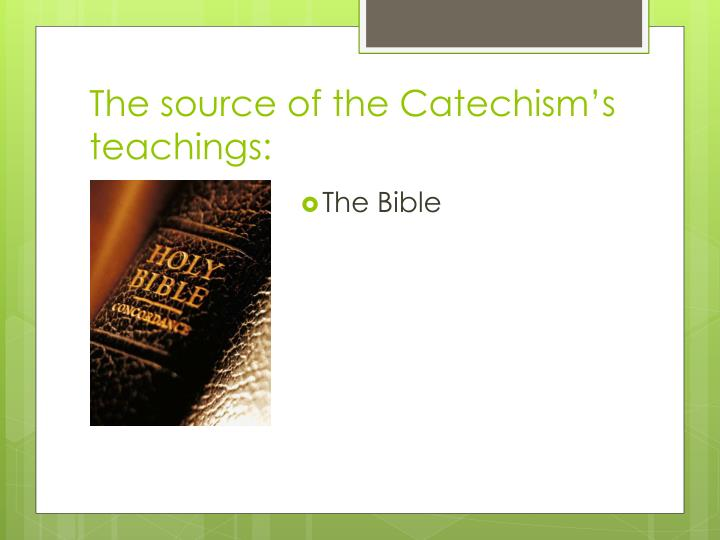 The source of the Catechism's teachings: