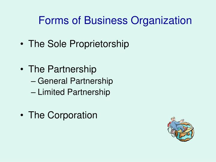 forms of business organization n.