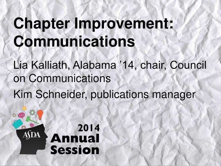 chapter improvement communications n.