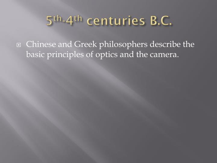 5 th 4 th centuries b c