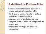 model based on database roles