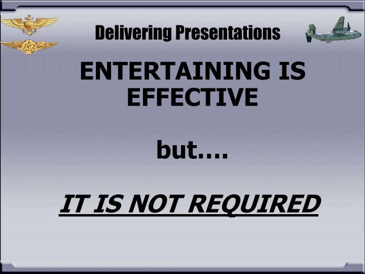 Delivering Presentations