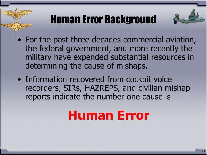 Human Error Background