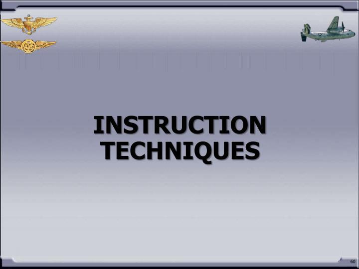 INSTRUCTION TECHNIQUES