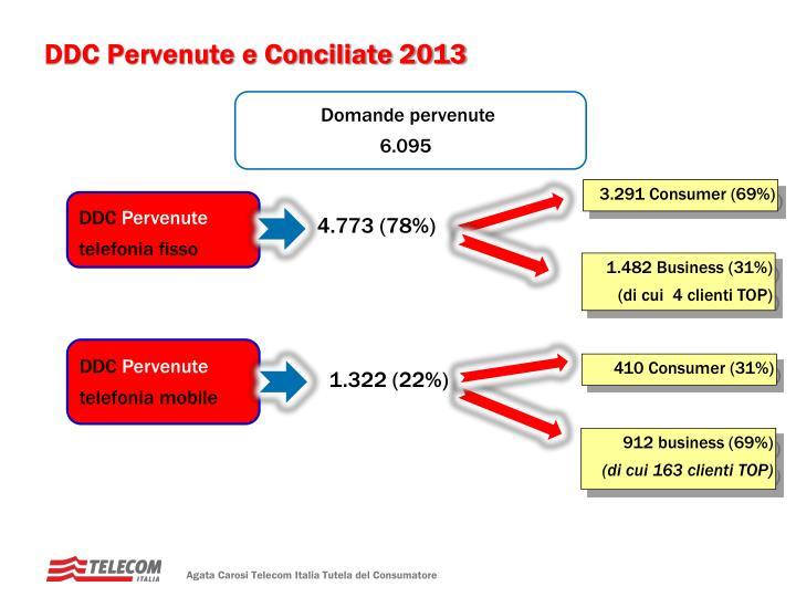DDC Pervenute e Conciliate 2013