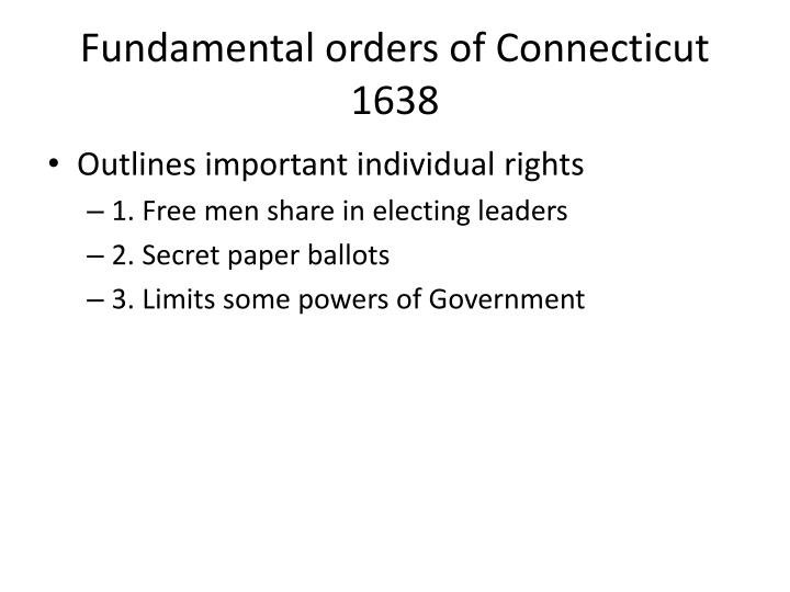Fundamental orders of Connecticut 1638