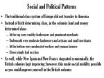 social and political patterns1