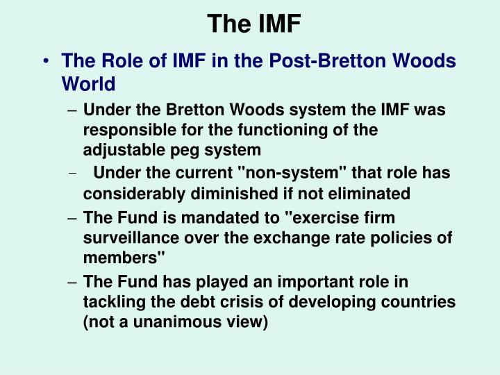 The IMF