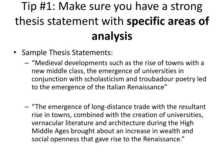 steps to make a thesis statement A thesis is the sentence in the introduction that lets the reader know exactly what you will be writing about or arguing if the thesis statement tells the reader your exact stance, the rest of the essay tells the reader why you think the way you do it is important that a thesis statement not be too general because you won't have enough space to cover.