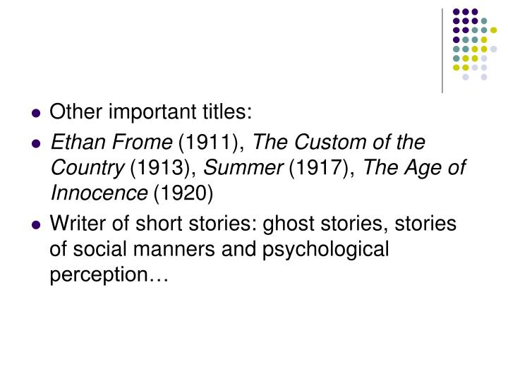 ethan frome vs age of innocence essay Major themes in ethan frome include silence, isolation, illusion, and the  consequences  throughout the novel wharton focuses on silence as a major  theme.