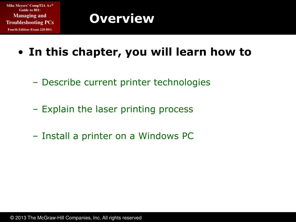 PPT - Printer Technologies and Installation PowerPoint Presentation