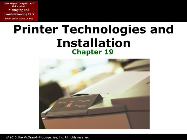 printer technologies and installation n.