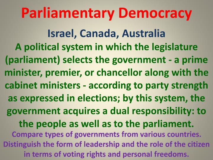 Parliamentary Democracy