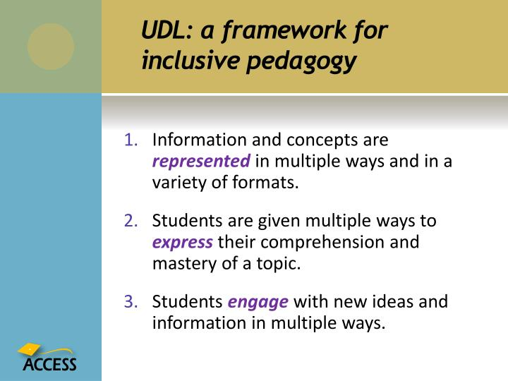 Ppt Universal Design For Learning A Framework For Good