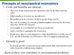 precepts of neoclassical economics1