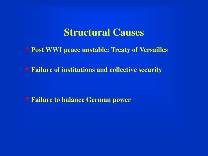Structural Causes