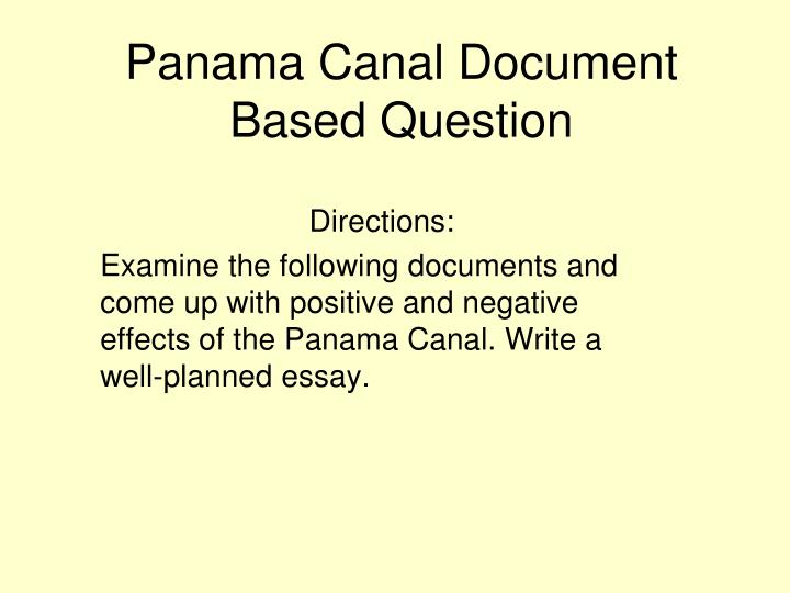 panama canal document based question n.