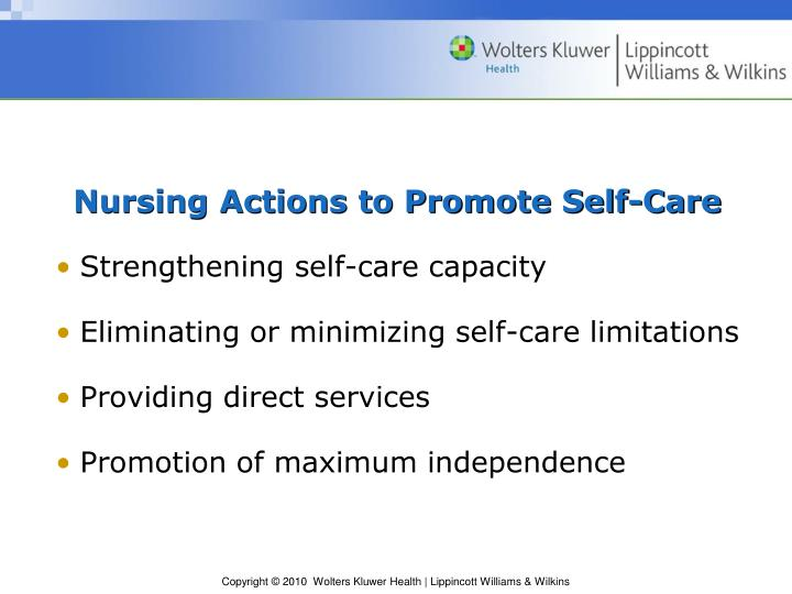 Nursing Actions to Promote Self-Care