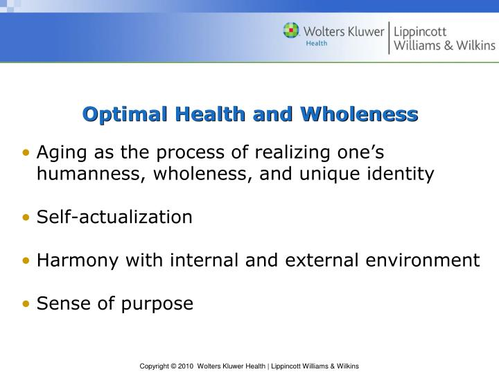 Optimal Health and Wholeness