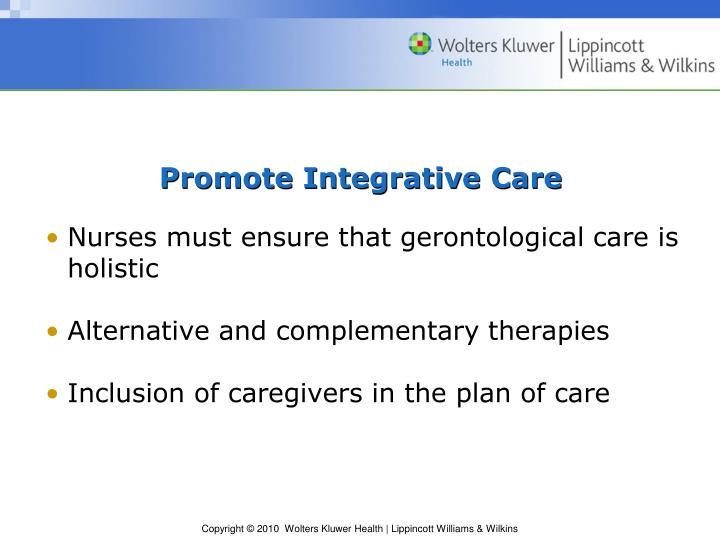 Promote Integrative Care