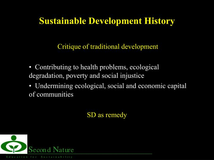 sustainable development history n.