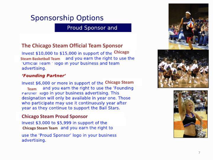 The Chicago Steam Official Team Sponsor
