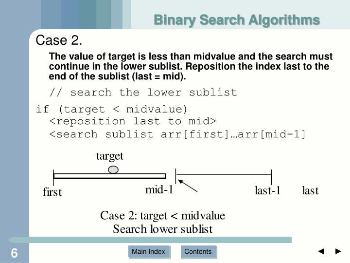 Binary Search Algorithms