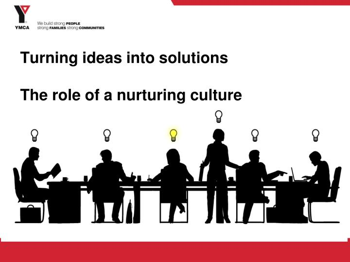 Turning ideas into solutions the role of a nurturing culture