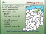 2009 project grants1