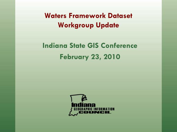 indiana state gis conference february 23 2010 n.