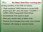 the waters data plan existing data1