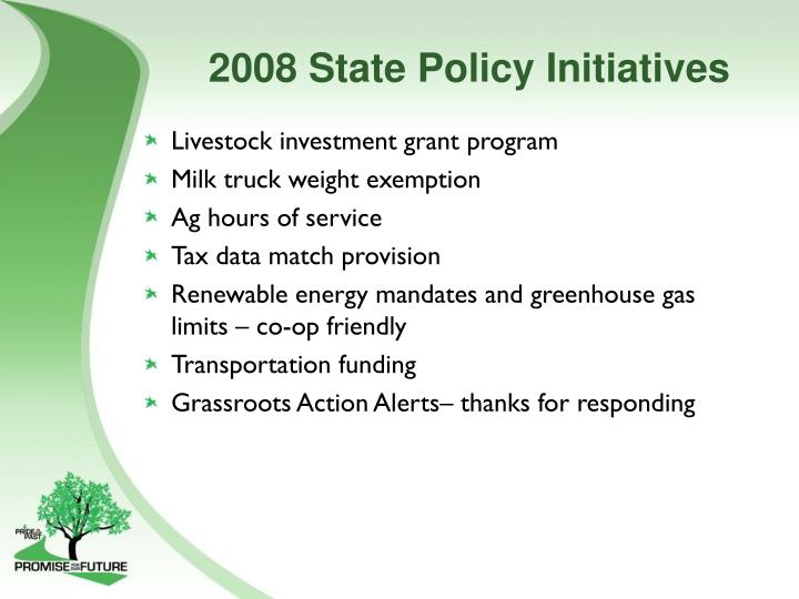 2008 State Policy Initiatives