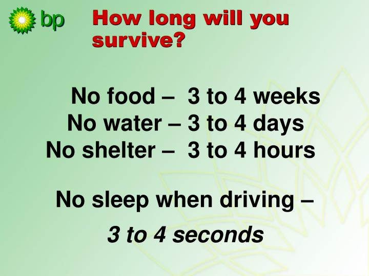 How long will you survive?