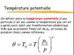 temp rature potentielle1